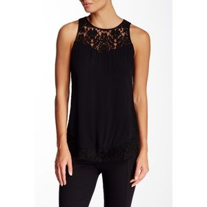 Rebecca Taylor Tops - NWT Rebecca Taylor Crepe and Lace Tank